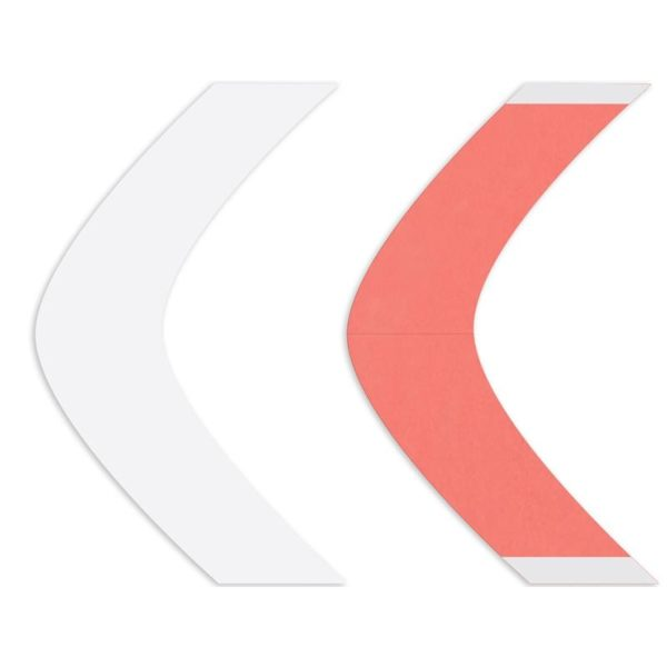 Kırmızı Sensitak Protez Saç Bandı 108 Adet AA Oval